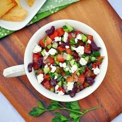 Greek Salsa with Pita Crisps