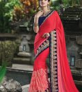 tomato-red-color-saree