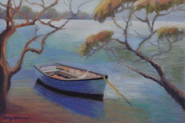 wall art of boats