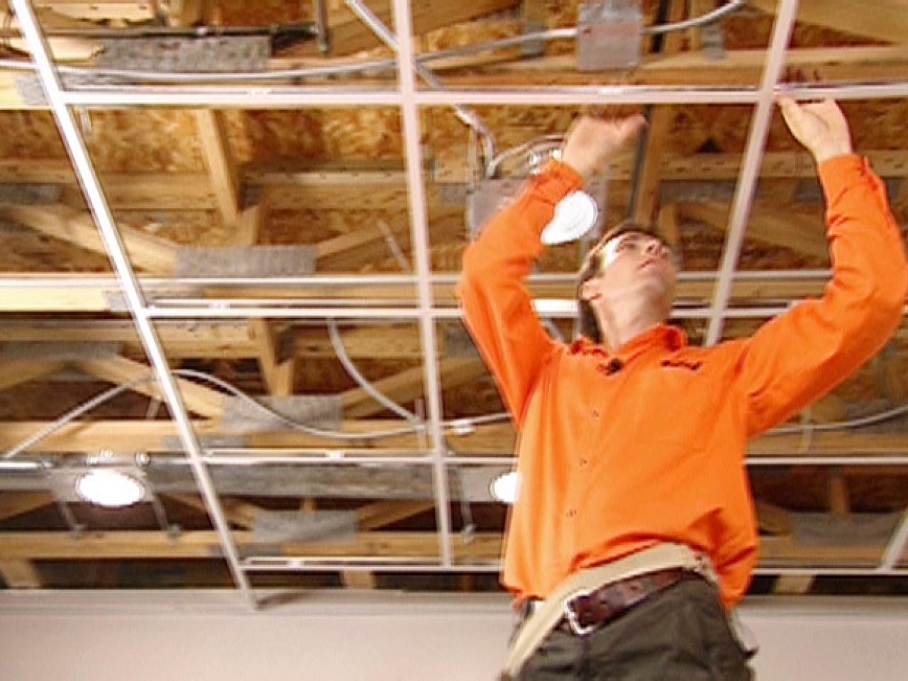 Installation Of Suspended Ceiling In Your Basement